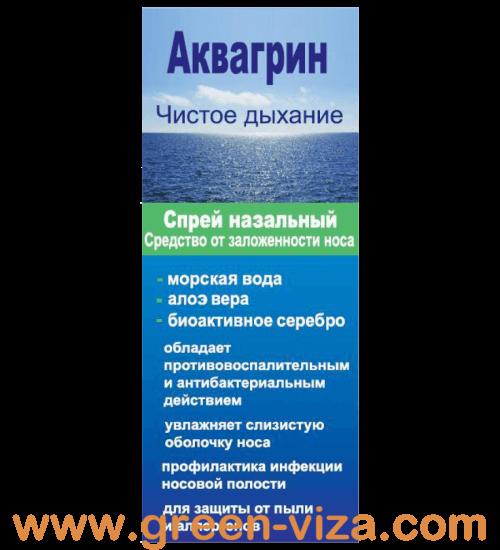 Аквагрин Спрей назальный